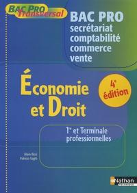 Alain Ricci et Patricia Vaghi - Economie et Droit 1e et Tle professionnelles Bac Pro Secrétariat-Comptabilité-Commerce-Vente.