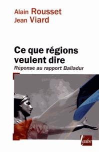 Lesmouchescestlouche.fr Ce que régions veulent dire - Réponse au rapport Balladur Image