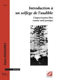 Introduction à un solfège de l'audible - Alain Savouret pdf epub