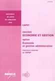 Alain Séré - CAPET section Economie et Gestion option Economie et gestion administrative - Concours externe et CAFEP.