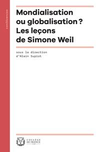Controlasmaweek.it Mondialisation VS globalisation - Les leçons de Simone Weil Image