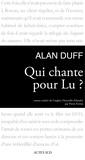 Alan Duff - Qui chante pour Lu ?.
