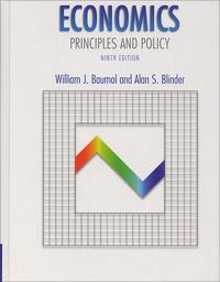 Alan-S Blinder et William-J Baumol - .