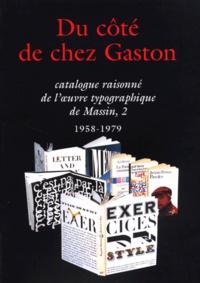 Deedr.fr Catalogue raisonné de l'oeuvre typographique de Massin - Tome 2, 1958-1979, Du côté de chez Gaston Image