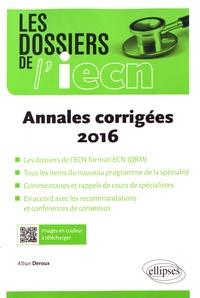 Alban Deroux - Annales corrigées 2016.