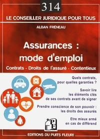 Alban Fréneau - Assurances : mode d'emploi.