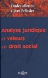 Albert Arseguel et Jacques Barthélémy - Analyse juridique et valeurs en droit social - Mélanges en l'honneur de Jean Pélissier.
