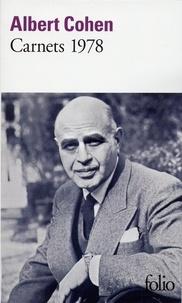 Albert Cohen - Carnets 1978.