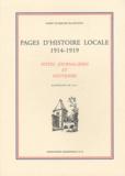 Albert de Bertier de Sauvigny - Pages d'histoire locale 1914-1919 - Notes journalières et souvenirs.