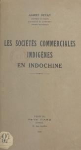 Albert Detay - Les sociétés commerciales indigènes en Indochine.