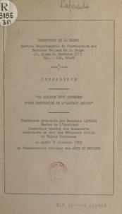 Albert Laprade - Ce que l'on peut attendre d'une rénovation de l'habitat ancien - Conférence prononcée par M. Laprade, le 9 décembre 1959 au Conservatoire national des arts et métiers.