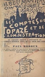 Albert Manteau et Paul Reboux - Les comptes de Topaze et de l'administration.