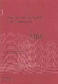 Coachingcorona.ch Concours de recrutement de bibliothécaires - Annales session 2004 Image
