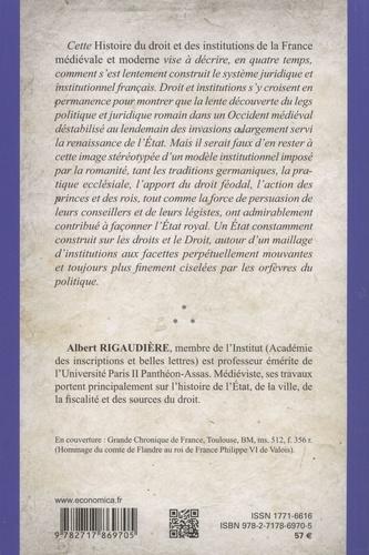 Histoire du droit et des institutions dans la France médiévale et moderne 5e édition