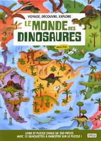 Alberto Borgo - Le monde des dinosaures - Livre et puzzle 70 x 48 cm.