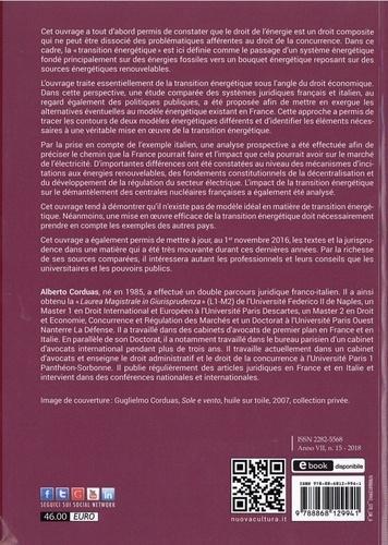 La transition énergétique à l'épreuve du droit public économique. Etude comparé du secteur énergétique français et italien