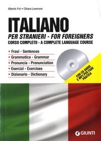 Alberto Fré et Chiara Laverone - Italiano per stranieri - Corso completo. 1 CD audio MP3