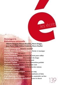Alberto Manguel et Etienne Beaulieu - Les écrits. No. 139. Novembre 2013.