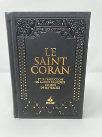 Albouraq - Le Saint Coran et la traduction en langue française du sens de ses versets - Couverture daim noir.