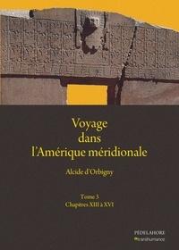 Alcide D'Orbigny et Narcisse Parchappe - Voyage dans l'Amérique méridionale - Tome 3, Chapitres XIII à XVI.