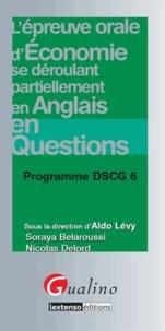 L'épreuve orale d'économie se déroulant partiellement en anglais en questions- Programme DSCG 6 - Aldo Lévy |