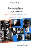 Alejandro Dagfal - Psychologie et psychanalyse - Paris-Londres-Buenos Aires.
