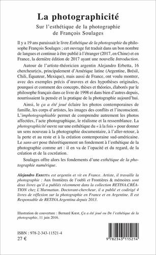 La photographicité. Sur l'esthétique de la photographie de François Soulages