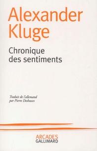 Alexander Kluge - Chronique des sentiments.