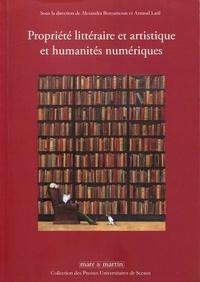 Alexandra Bensamoun et Arnaud Latil - Propriété littéraire et artistique et humanités numériques.