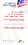 Alexandra De Hoop Scheffer et François Vergniolle de Chantal - Politique américaine N° 22 : Les défis de la relation transatlantique.