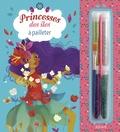 Alexandra Petracchi - Princesse des îles à pailleter - Avec 4 cartes à décorer, 4 tubes de paillettes, 1 pique en bois, 1 pinceau applicateur et 1 bloc de plus de 20 coloriages.