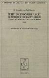 Alexandre Blanchet - Petit dictionnaire usuel de mimique et de dactylologie à l'usage des médecins et des gens du monde.