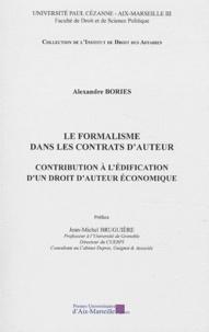 Galabria.be Le formalisme dans les contrats d'auteur - Contribution à l'édification d'un droit d'auteur économique Image