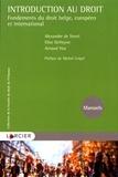 Alexandre de Streel et Elise Defreyne - Introduction au droit - Fondements du droit belge, européen et international.