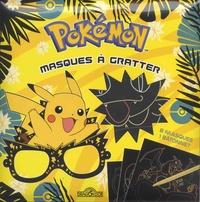 Alexandre Debrot - Masques à gratter Pokémon - Avec 8 masques prédécoupés, 1 bâtonnet et 1m d'élastique.