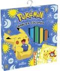 Alexandre Debrot - Sables colorés Pokémon - Avec 6 cartes à sabler, 1 outil pour détacher les surfaces autocollantes, 6 tubes de sable.