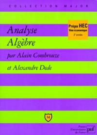 Analyse, algèbre- 2e année - Alexandre Dede | Showmesound.org