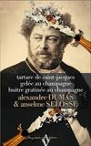 Alexandre Dumas et Anselme Selosse - Tartare de saint-jacques et gelée au champagne, émulsion au wasabi et zeste d'orange - Huître gratinée au champagne, petits fenouils croquants et suprêmes d'orange.