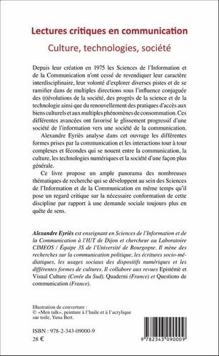Lectures critiques en communication. Culture, technologies, société