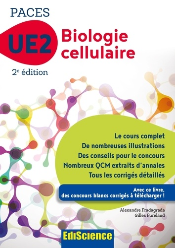 Biologie cellulaire-UE2 PACES -2e éd. - Format PDF - 9782100752010 - 16,99 €