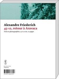 Alexandre Friederich - 45-12, retour à Aravaca.