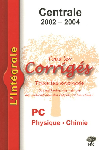 Alexandre Hérault et Stéphane Ravier - Physique et Chimie PC Centrale 2002-2004.