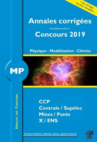 Physique - Modélisation - Chimie MP  Edition 2019