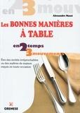 Alexandre Masci - Les bonnes manières à table - Etre des invités irréprochables ou des maîtres de maison exquis en toute occasion.