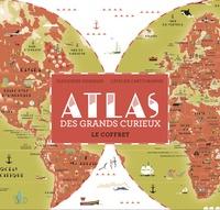 Atlas des grands curieux- Le coffret avec 1 atlas, 1 planisphère géant, 47 stickers, 30 cartes quiz - Alexandre Messager | Showmesound.org