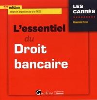 L'essentiel du droit bancaire - Alexandre Peron pdf epub