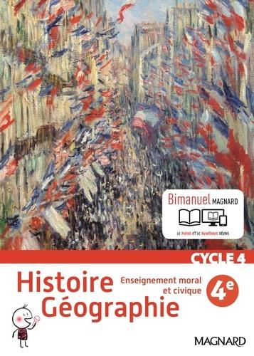 Histoire géographie, enseignement moral et civique 4e Cycle 4  Edition 2016