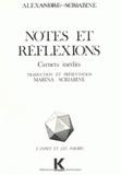 Alexandre Scriabine - Notes et réflexions - Carnets inédits.