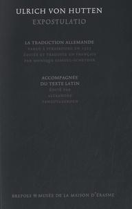 Alexandre Vanautgaerden - Expostulatio - La traduction allemande accompagnée du texte latin.