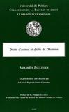 Alexandre Zollinger - Droits d'auteur et droits de l'homme.